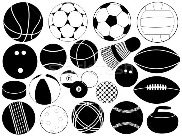 Different Game Balls Stock photo © DeCe