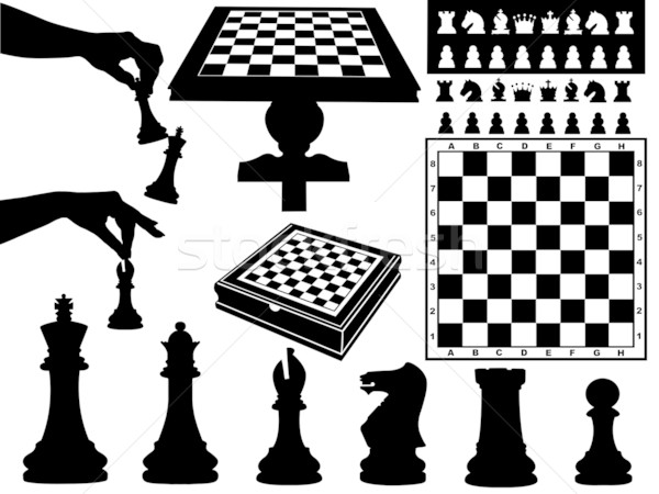 Illustration Of Chess Pieces Stock photo © DeCe
