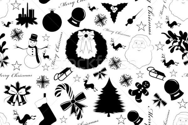 Stock fotó: Végtelenített · karácsony · izolált · fehér · fa · földgömb
