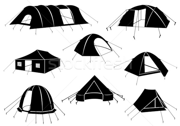 Set of tents isolated Stock photo © DeCe