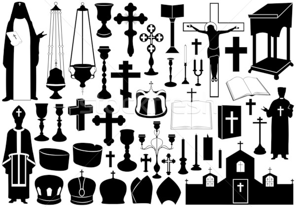 Set Of Religious Elements Stock photo © DeCe