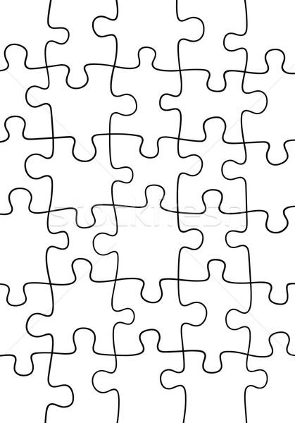 Puzzle illusztráció kirakós játék háttér játék sziluett Stock fotó © DeCe