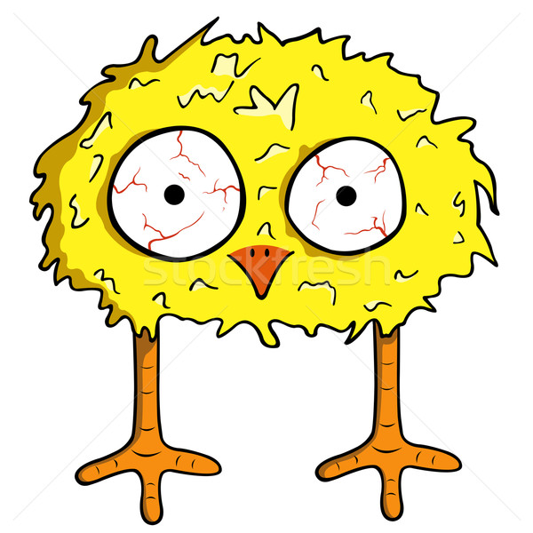 Cartoon Chick aislado blanco diseno aves Foto stock © DeCe
