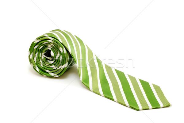 Nyakkendő csíkos izolált fehér ruházat Stock fotó © DeCe