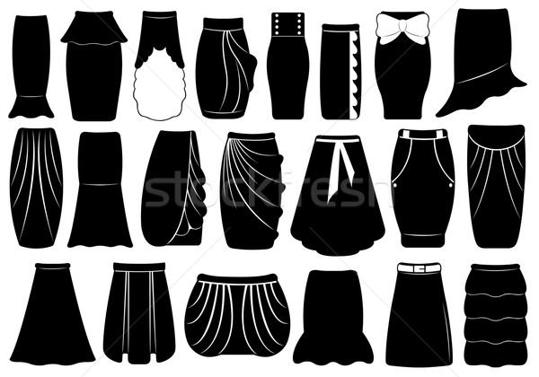 Set of different skirts Stock photo © DeCe
