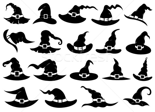 Set of different witch hats Stock photo © DeCe