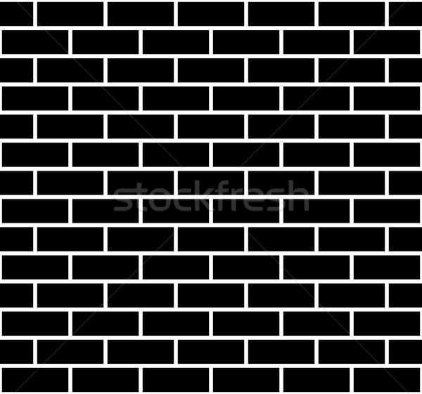 Illusztráció végtelenített téglafal textúra fekete tégla Stock fotó © DeCe