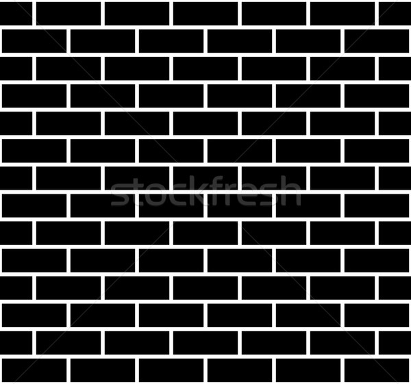 Ilustración sin costura pared de ladrillo textura negro ladrillo Foto stock © DeCe