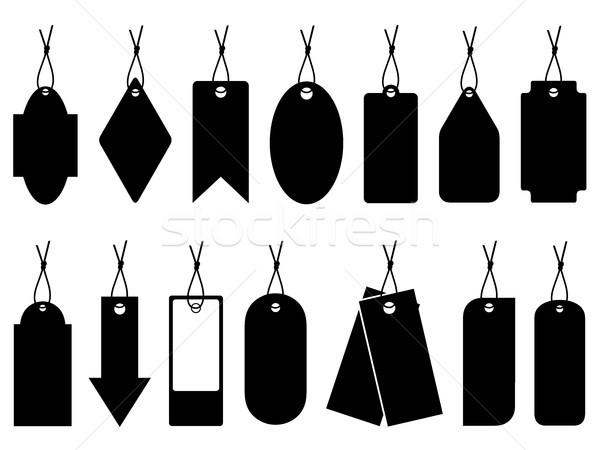 Szett különböző ár címkék izolált fehér Stock fotó © DeCe