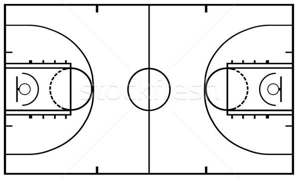 Boisko do koszykówki odizolowany biały koszykówki dziedzinie koszyka Zdjęcia stock © DeCe