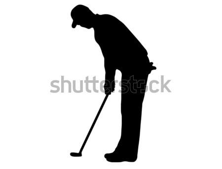 Golfer Silhouette Stock photo © DeCe