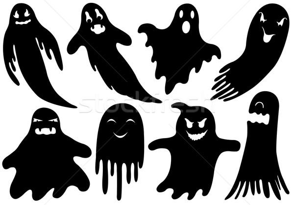 Stock fotó: Szett · különböző · szellemek · izolált · fehér · buli