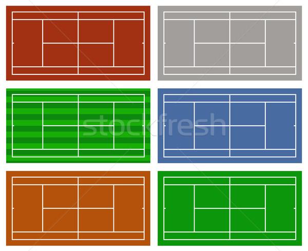 Ilustración diferente tenis aislado blanco deporte Foto stock © DeCe