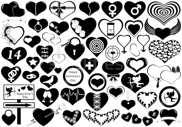 Stock photo: Different Hearts