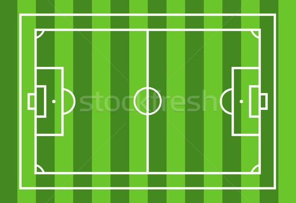 Futballpálya zöld sport mező szín stadion Stock fotó © DeCe