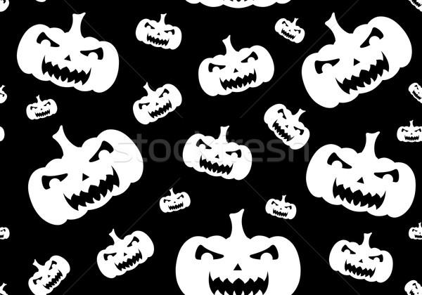 Végtelenített halloween fekete mosoly arc terv Stock fotó © DeCe