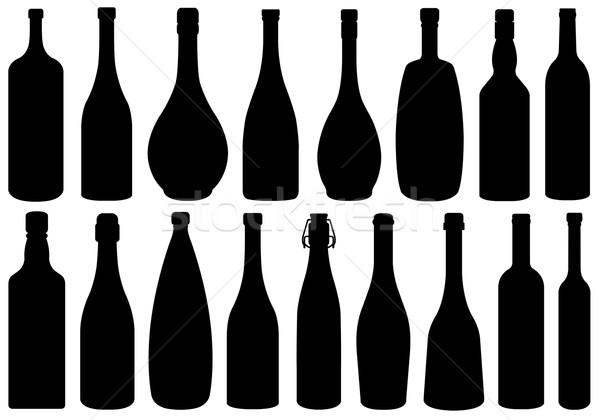 Ayarlamak farklı cam şişeler yalıtılmış beyaz Stok fotoğraf © DeCe