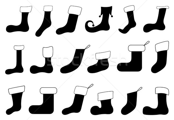 Set of different Christmas socks  Stock photo © DeCe