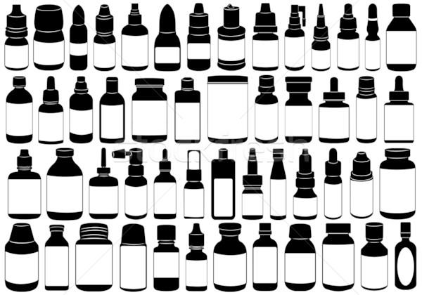 Stock fotó: Gyógyszeres · üveg · izolált · fehér · egészség · kórház · ipar