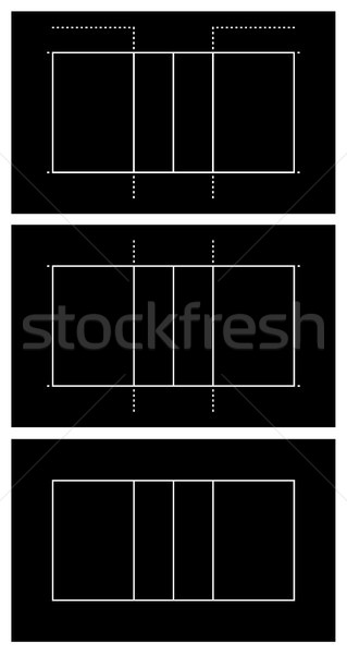 Set of different volleyball court  Stock photo © DeCe