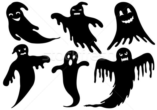 Illustration Of Different Ghosts Stock photo © DeCe