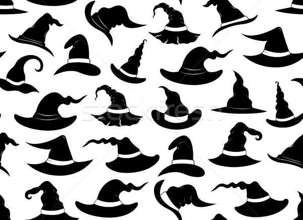 Végtelenített boszorkány sapkák izolált fehér háttér Stock fotó © DeCe
