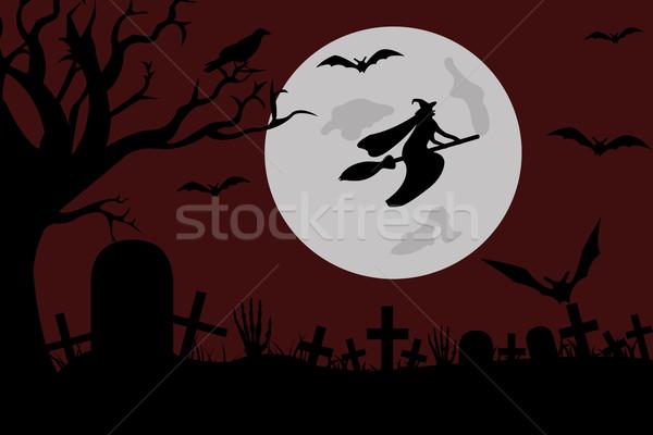örnek cadı uçan mezarlık ağaç el Stok fotoğraf © DeCe