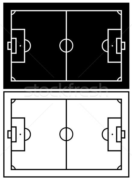 Blanco negro campo de fútbol aislado blanco campo pelota Foto stock © DeCe