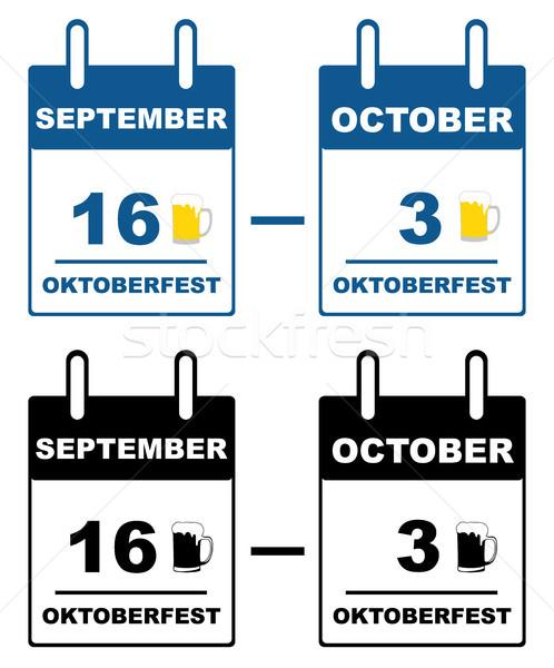 Oktoberfest calendar  Stock photo © DeCe