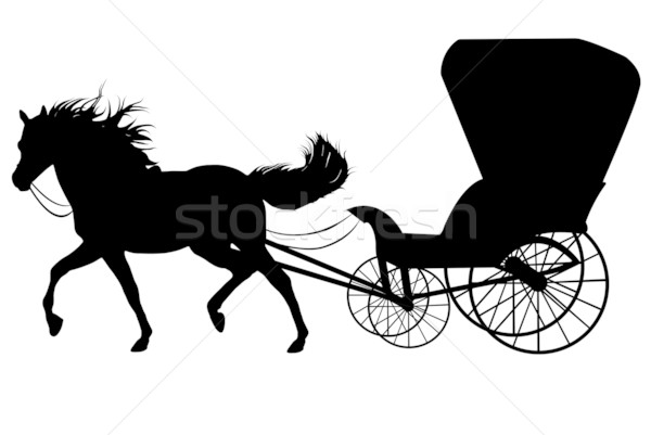 Horse With Carriage Stock photo © DeCe
