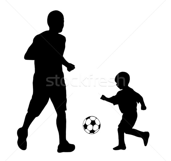 Soccer Player Silhouette Stock photo © DeCe