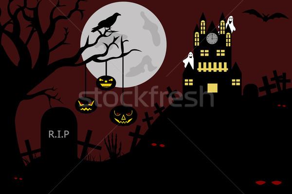 城 墓地 表示 1泊 実例 クロック ストックフォト © DeCe