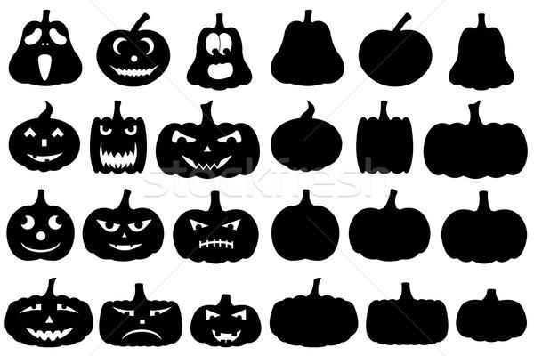 Halloween calabazas aislado blanco ojo hoja Foto stock © DeCe