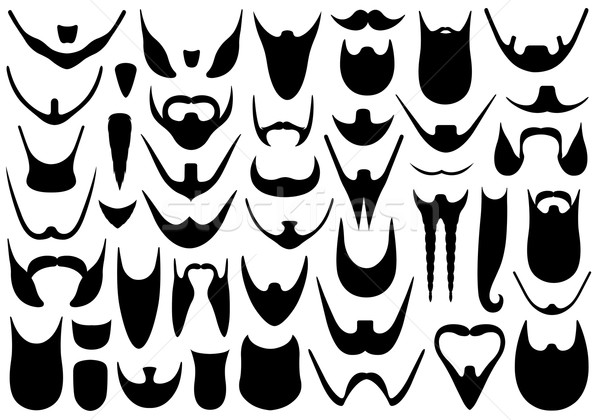 Set of different beards Stock photo © DeCe
