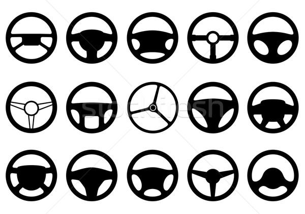 Set of different steering wheels  Stock photo © DeCe