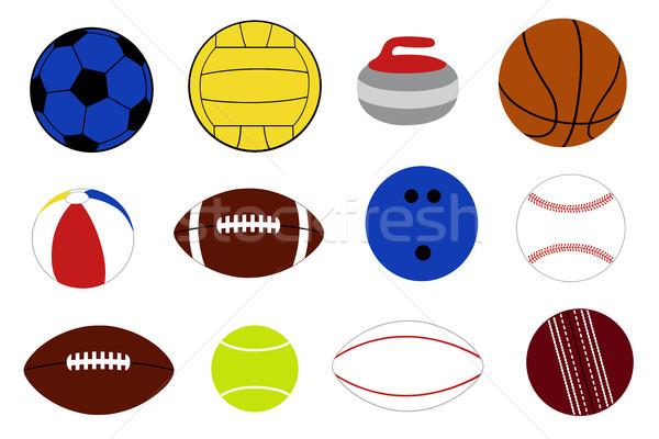 Set of different game balls  Stock photo © DeCe