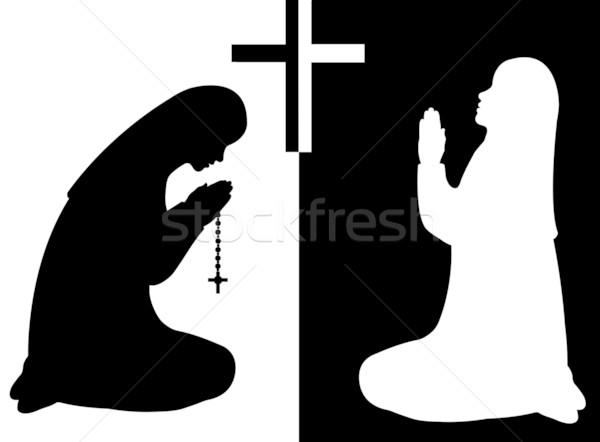 Praying Nuns Stock photo © DeCe