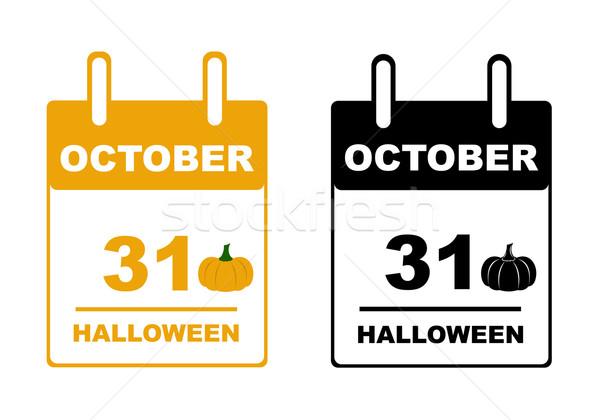 Halloween calendar Stock photo © DeCe