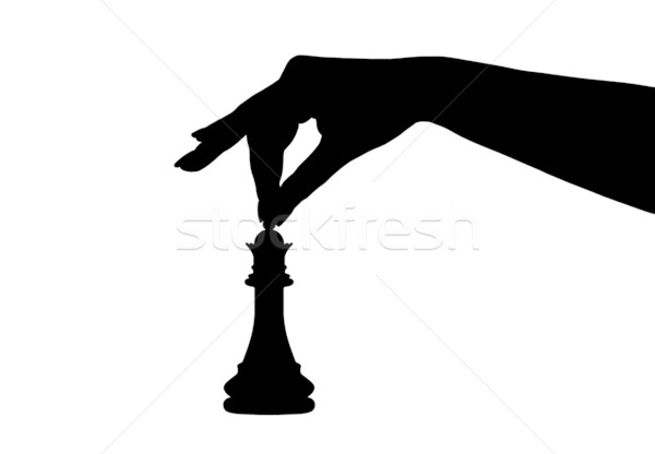 Chess Piece Silhouette Stock photo © DeCe