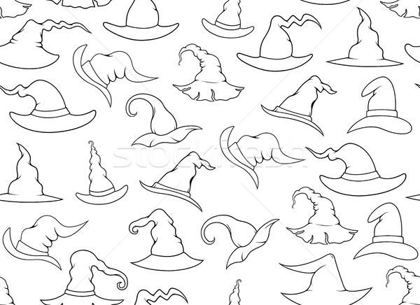 Végtelenített boszorkány sapkák izolált fehér textúra Stock fotó © DeCe