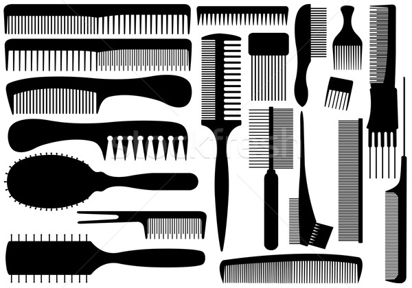 Set Of Different Combs Stock photo © DeCe