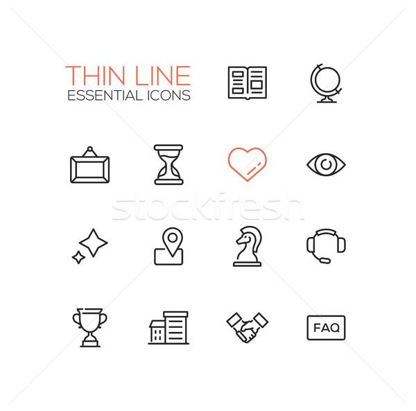 Stockfoto: Business · dun · lijn · essentieel · moderne