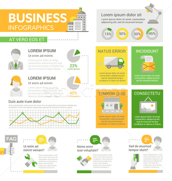 Business - poster, brochure cover template Stock photo © Decorwithme