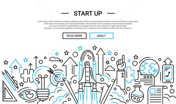 Start Up - line design website banner temlate Stock photo © Decorwithme