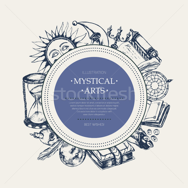 Mystiek arts moderne banner vector Stockfoto © Decorwithme