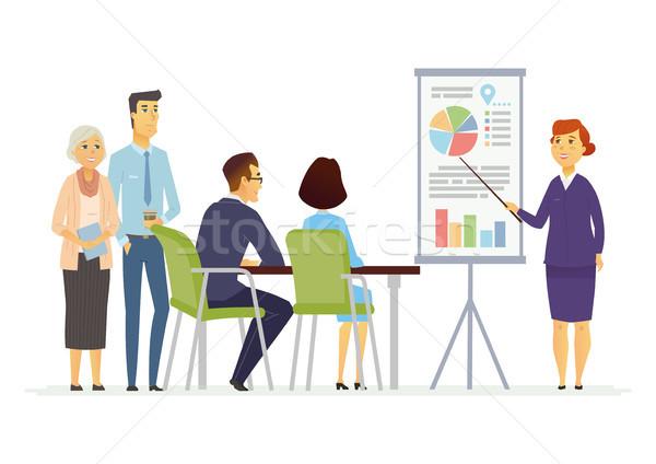 Stockfoto: Zakelijke · bijeenkomst · moderne · vector · cartoon · illustratie