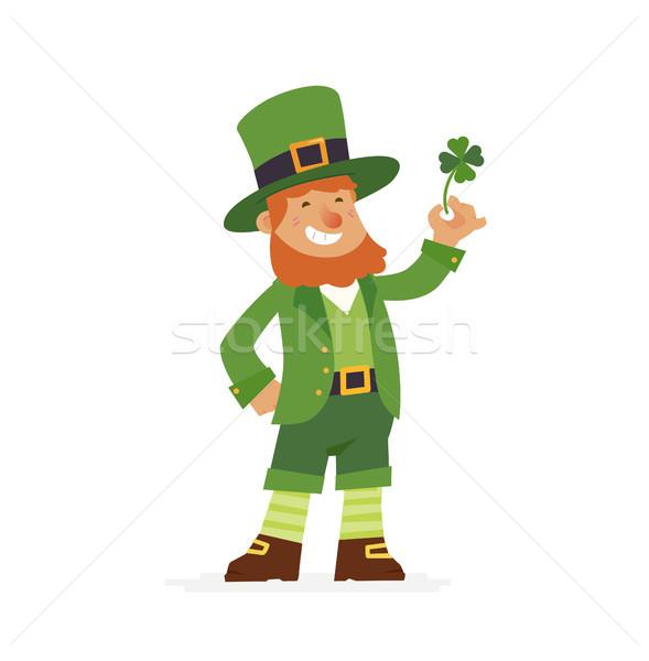 Saint Patrick - modern vector cartoon people characters illustration Stock photo © Decorwithme