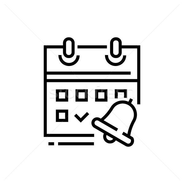 Tervező vonal terv izolált ikon fehér Stock fotó © Decorwithme