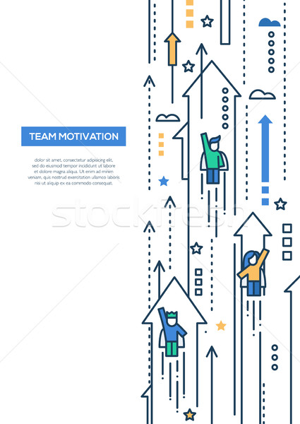 бизнес-команды линия дизайна брошюра плакат шаблон Сток-фото © Decorwithme
