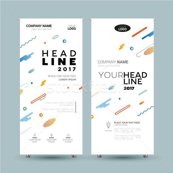 Corporate Banner - vector template illustration Stock photo © Decorwithme